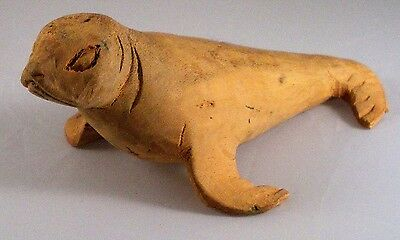 Hand Carved wood Seal From Equador Galapagos Island