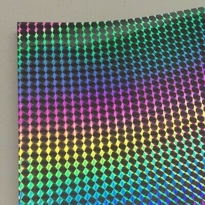 "Long-Life Silver Holographic 1/8"" Mosaic PRISM Sign Vinyl    24 inch x 30 feet"