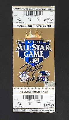 Mike Trout signed 2012 First All Star game ticket Inscribed MLB HOLO Angels MVP