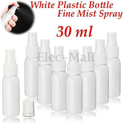 30ml Travel White Plastic Empty Mist Pump Spray Bottle Perfume Atomizer Cosmetic