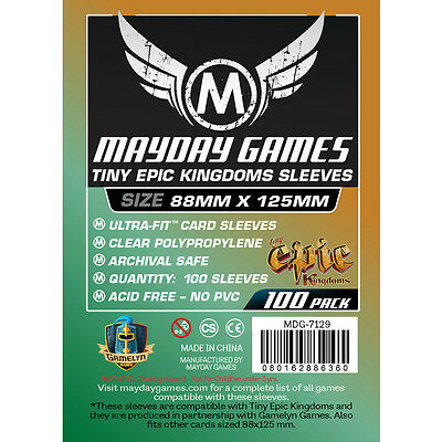 Mayday Games Tiny Epic Kingdoms Sleeves 88x125mm