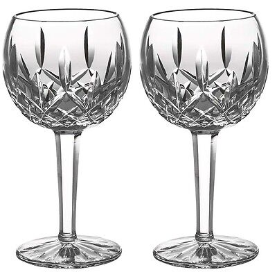 Waterford Lismore Balloon Wine Set of 2 Crystal Glasses #6233181700 New In Box