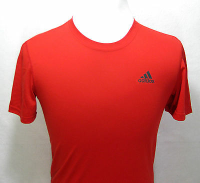 Mens ADIDAS Red Short Sleeve Athletic Climalite T-Shirt (Size Small S) Fitness