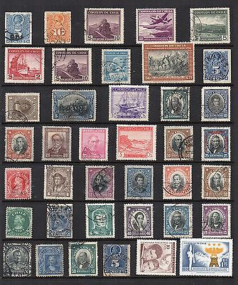 CHILE Stamp Collection  Mint Used Ref:QE178