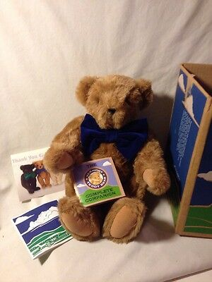 """Vermont Teddy Bear 16"""" Plush Jointed Honey Complete w/Box Tag 2005 NM"""