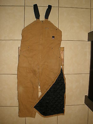 Mens CRAFTSMAN ARTIC QUILT LINED Insulated Duck DOUBLE KNEE Bib Overalls XL