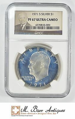 1971-S Eisenhower Ike Dollar - Silver PROOF - NGC Graded - PF67 UCAM *YC708