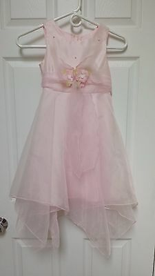 Girls Size 6x pink sleeveless formal, wedding, party dress