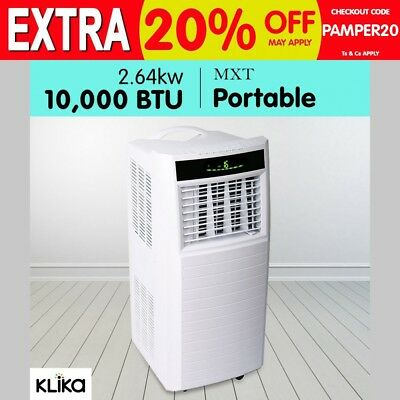 New MXT Portable Air Conditioner Fan Dehumidifier 2.6KW Window Cooling BTU 10000
