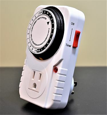 New Century 24 Hour Heavy Duty Plug in Mechanical Grounded Timer Indoor