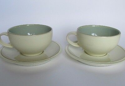 Pair of Denby Energy Stoneware Large Coffee Cups and Saucers...Made in England