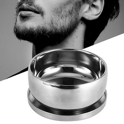 Men's Wet Shaving Stainless Steel Mug Bowl Double Layer With Lid Shave Tool Kit