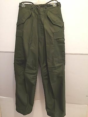 Unissued M-1951 Sateen Cotton Wind Resistant Field Trousers (X Small Reg.)
