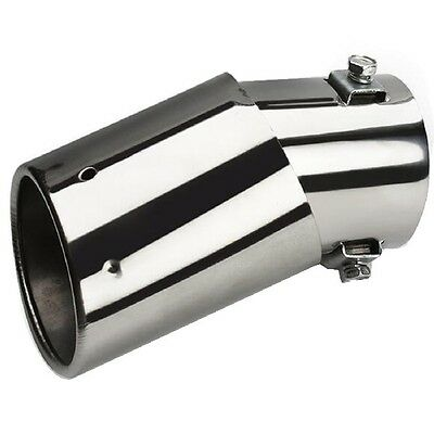 Universal Car Vehicle Rear Round Stainless Steel Exhaust Muffler Tail Pipe Tip