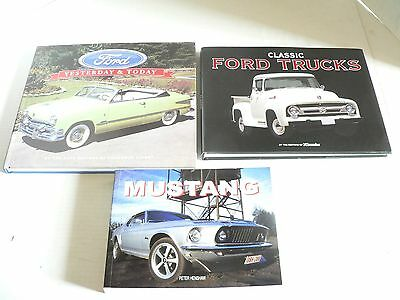 3 Ford Motors Books Mustand Classic Trucks & Yesterday & Today 2 Hardcover Nice