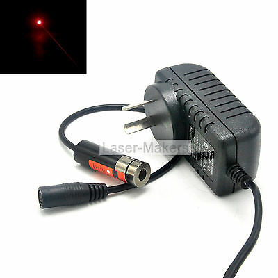 650nm 5mW Red Focusable Laser Dot Diode Module w/ 5V AC Adapter 13x42mm