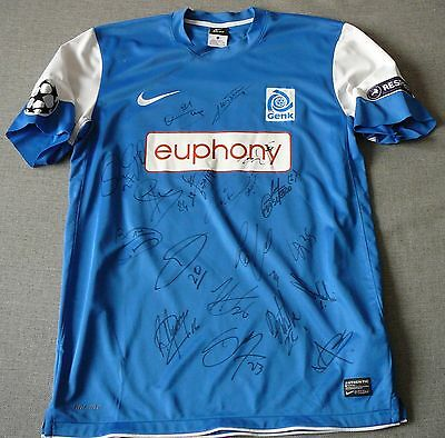 KRC Genk #33 Pudil match worn shirt CL known game team signed