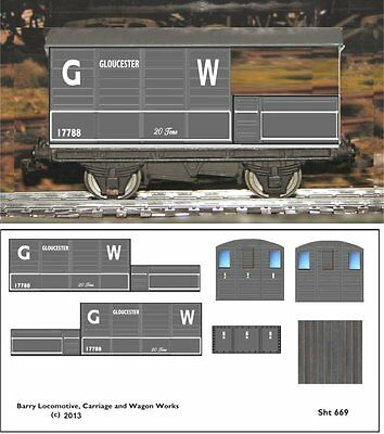 Re-Life Decals For Hornby Dublo Gwr Toad Brake Van - Gloucester