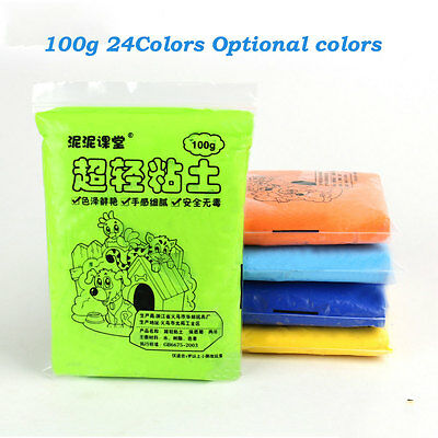 100g 24 colors Available colors DIY Fimo Polymer Modelling Soft Clay Craft DIY