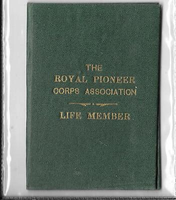 WW2 Membership Card/Booklet. The Royal Pioneer Corps Association.