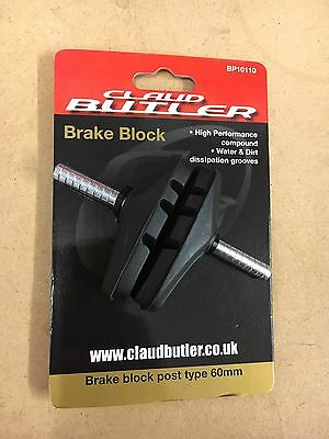 Claud Butler 60mm Post type brake pad (Block,pads,v-brake,canti MTB ATB Hybrid)