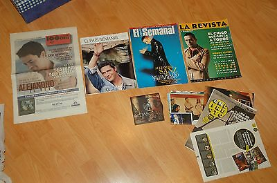ALEJANDRO SANZ Clipings and cuttings. Magazines AND Newspapers. SPAIN