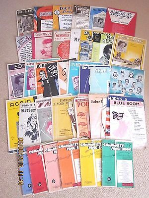 ~48 x VINTAGE SHEET MUSIC - BOOKS and SHEETS - GC~