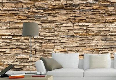 3D Brick Stone Style Wallpaper Bedroom Living Mural Roll Modern Wall Background