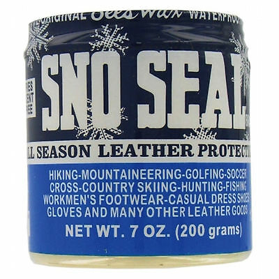 Atsko SNO-SEAL 8oz Jar Beeswax Waterproofing Solid Wax for Leather Protection