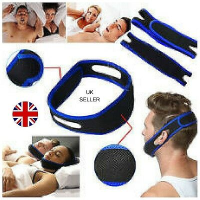 UK Anti Snore Chin Strap Belt Stop Snore Device Apnea Jaw Support Health Care