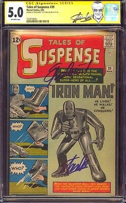 """Tales Of Suspense 39 Cgc 5.0 Ss Stan """"the Man"""" Lee Quoted """"excelsior!"""" New Label"""
