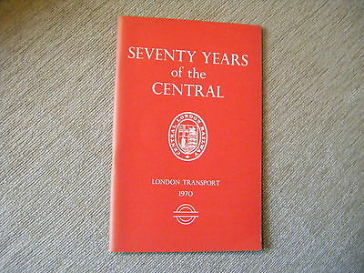 Seventy Years of the Central   London Transport Booklet 1970