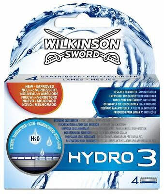 Wilkinson Sword Hydro 3 Razor Blades x 12, 3 Packs of 4 Mens Shaving Genuine