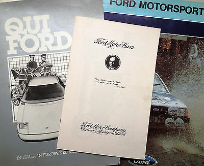 Libretto uso e manutenzione FORD T Owners manual * suppl. a QUI FORD +MOTORSPORT