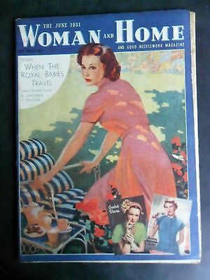 WOMAN AND HOME June 1951 Classic british vintage magazine LOWER GRADE