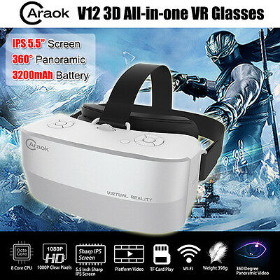 """Caraok V12 5.5"""" Virtual Reality 3D VR Goggles Glasses Headset HD 1080P For Movie"""