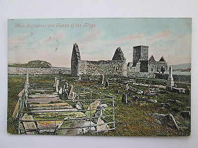 Vintage Postcard - Iona Cathedral & Tombs Of The Kings , Argyll & Bute .