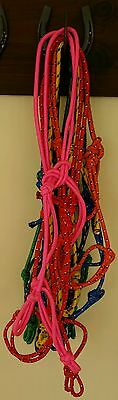 FULL Rope Halter- Green, Pink, Yellow, Blue, Red, Black