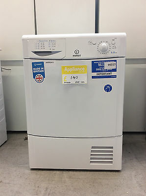 Indesit IDC8T3B 8Kg Condenser Tumble Dryer White UK DELIVERY #333351