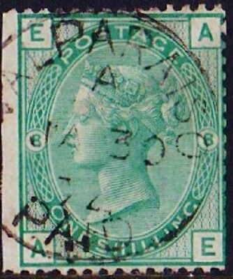 GB Used Abroad in VALPARAISO Chile  C30 (c.d.s.) 1/- green pl.8.