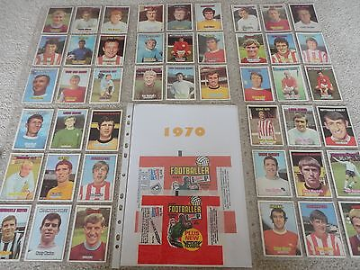 A&bc 1970 Footballers Complete Set + Empty Wrapper