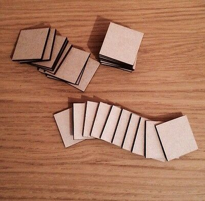 20 x Square Bases 3 Mm Laser Cut Mdf 40 X 40 Mm Wargames bolt action