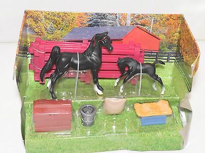 Breyer Model Horse Toy - 5414 Stablemate New Arrival - Black ASB & Foal Play Set