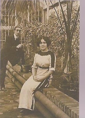 """1910 """"Britain's Daintiest Comedienne"""" ZONA VEVEY & Husband MAX ERARD signed page"""