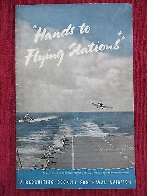 WW2 Recruitment Booklet Naval Aviation Hands To Flying Stations FC10