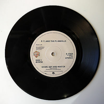 """P.t. And The Plimsolls - Game, Set And Match - 7"""" Vinyl Single"""