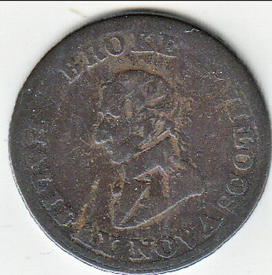 1814Short Bust Broke Colonial Token  - NS-7D4, Breton 879