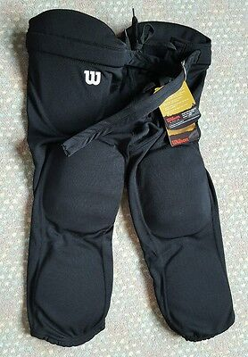 Youth LARGE WILSON Rediplay 7 Pads Integrated Football Girdle Pants Black NWT !
