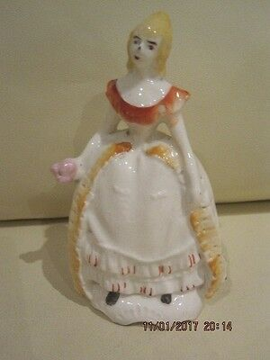Vintage Ceramic Figure Of A Lady In Crinoline Dress