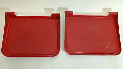 Set of 2 Sonic Red Plastic Drive In TRAY for Auto Window Car Hop O tray